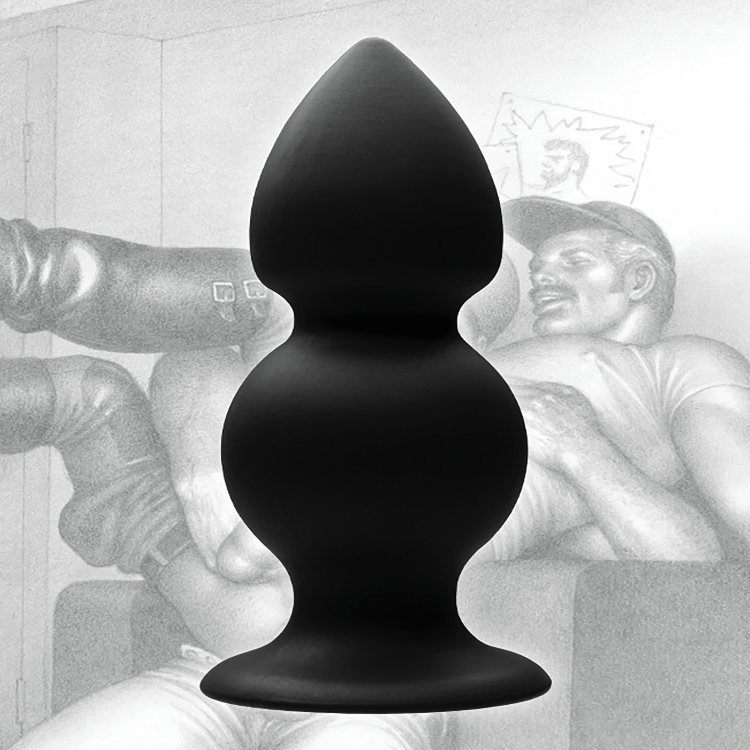 Tom of Finland Weighted Silicone Anal Plug by XR Brands - rolik