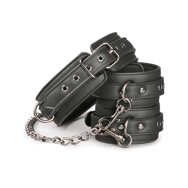EasyToys Faux Leather Collar with Hand Cuffs by Easy Toys - rolik