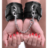Locking Padded Wrist Cuffs w/Chain by XR Brands - rolik