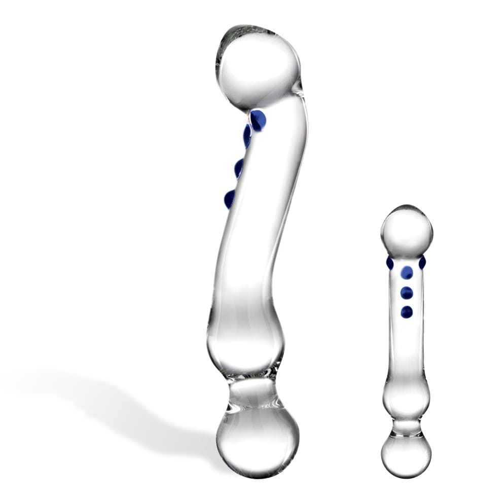 Curved G-Spot Glass Dildo by Glas - rolik