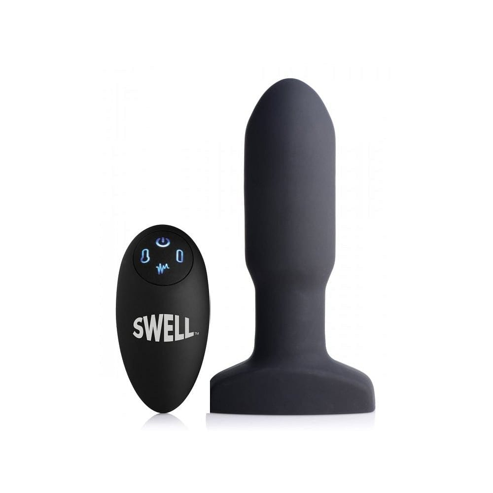 XR Brands® Swell Remote Inflatable 10X Vibrating Missile Anal Plug - Rolik®