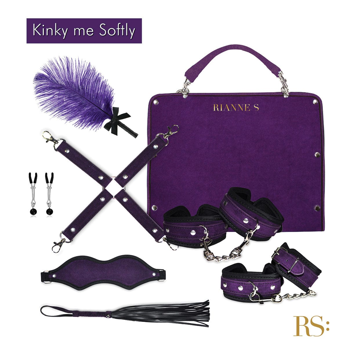 Rianne S Kinky Me Softly Bondage Kit Purple - Rolik®