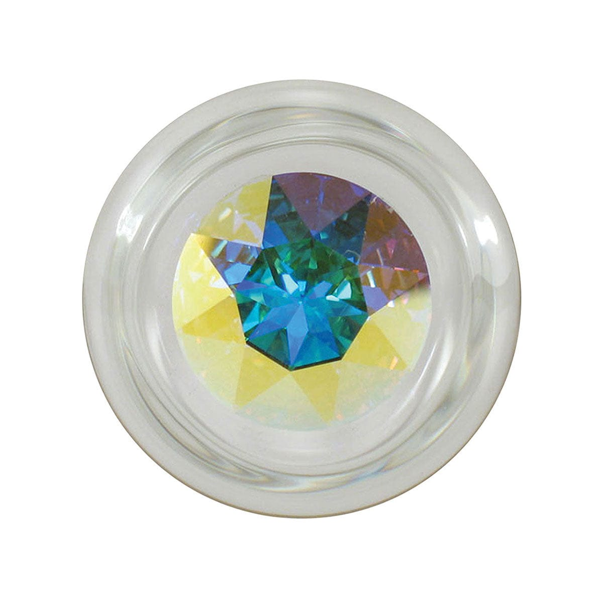 Small Clear Glass Plug by Crystal Delights - rolik