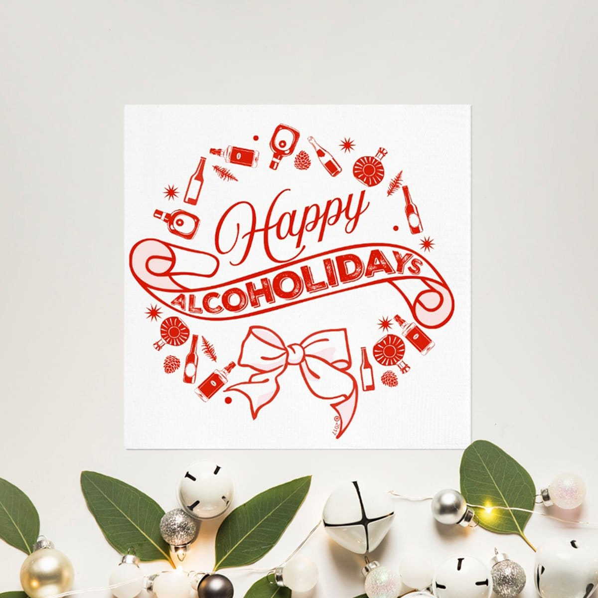 Twisted Wares® Happy Alcoholidays Cocktail Napkins - Rolik®