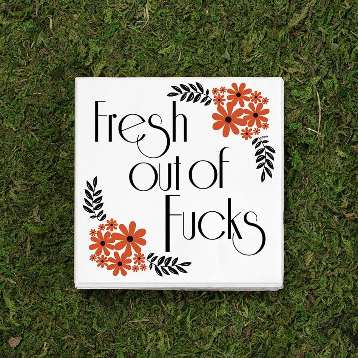 Twisted Wares® Fresh Out Of F*cks Cocktail Napkins - Rolik®
