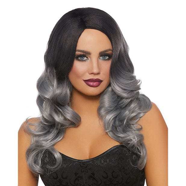Dreamgirl® Long Wavy Ombre Wig Black/Gray - Rolik®