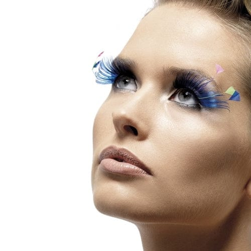 Fever Collection Blue Feather Plume Eyelashes - Rolik®