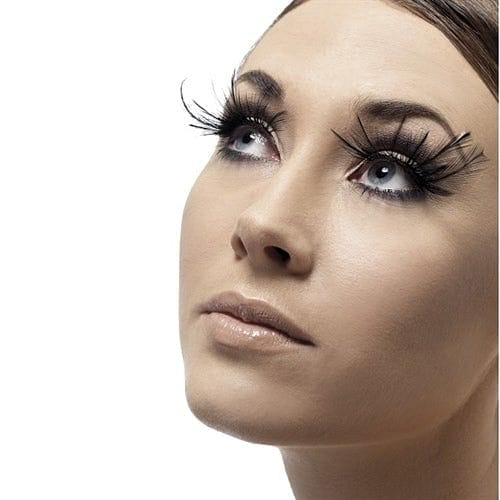 Fever Collection Brown Feather Plume Eyelashes - Rolik®