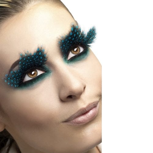 Fever Collection Large Aqua Dots Feather Eyelashes - Rolik®