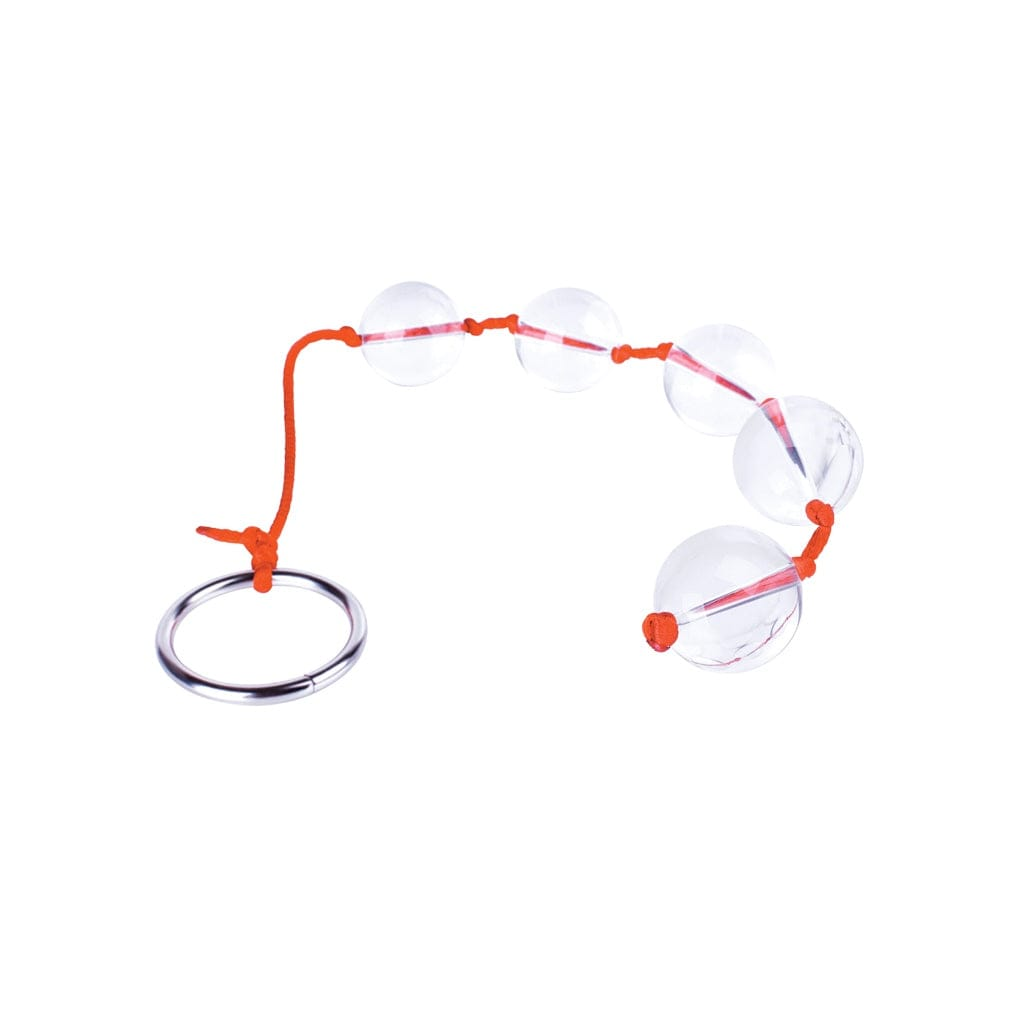 Icon Brands Orange is the New Black Glass Anal Beads - Rolik®