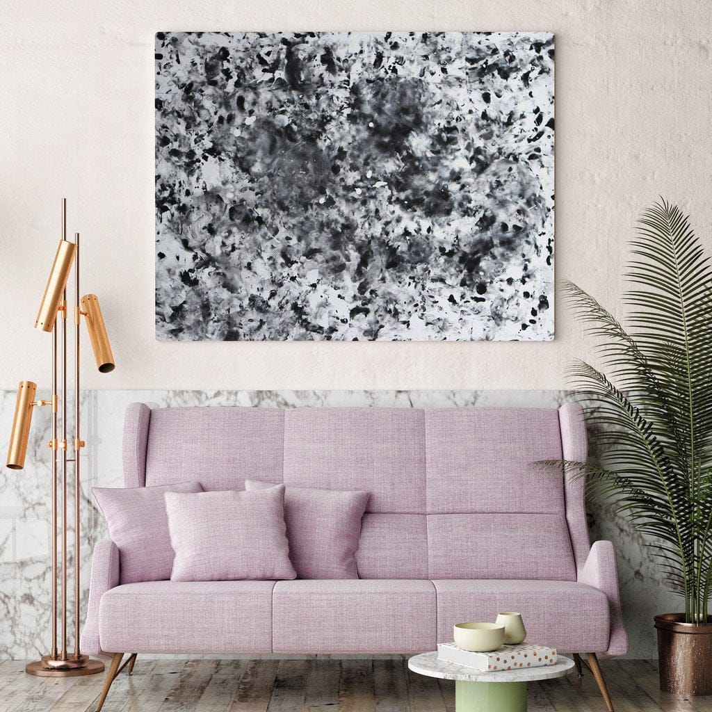 Love Is Art Canvas + Paint Kit SHADES OF GREY EDITION by Love Is Art - rolik