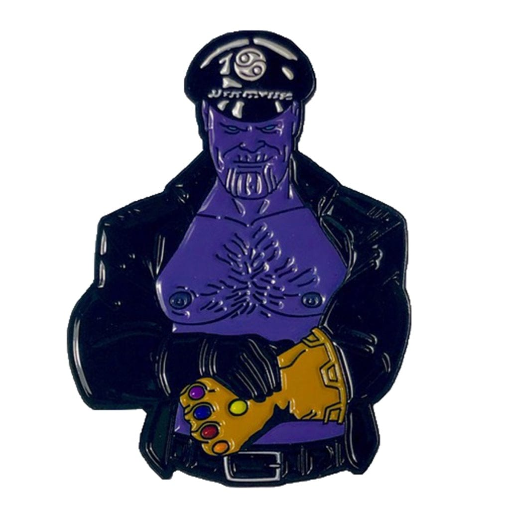 Leather Daddy Thanos Enamel Pin - Geeky and Kinky - Rolik