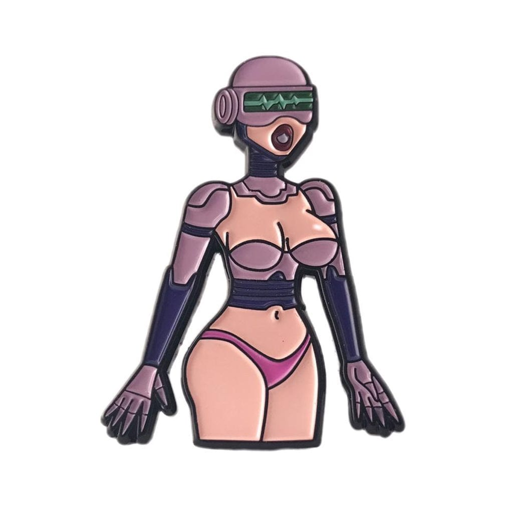 Sex Robot Enamel Pin - Geeky and Kinky - Rolik