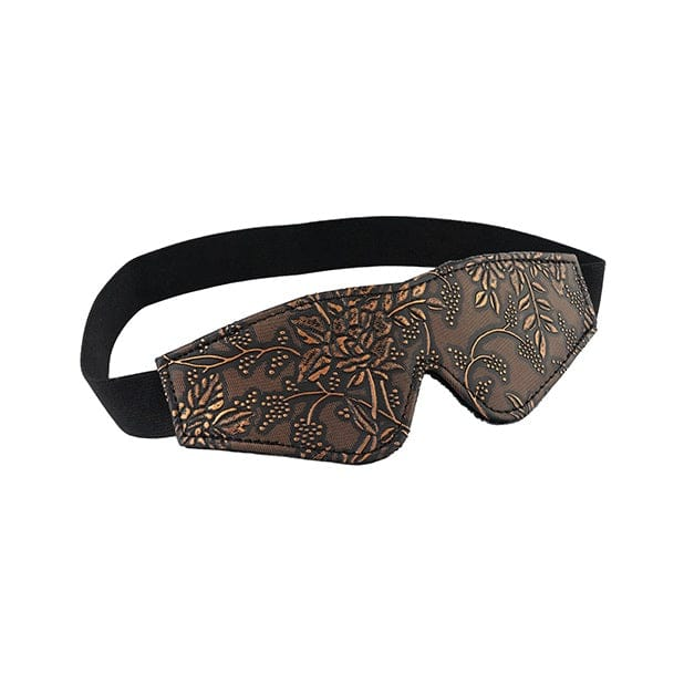 Spartacus™ Brown Floral Print Faux Fur Lined Blindfold - Rolik®