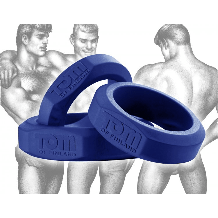Tom of Finland 3 Piece Silicone C-Ring Set by XR Brands - rolik
