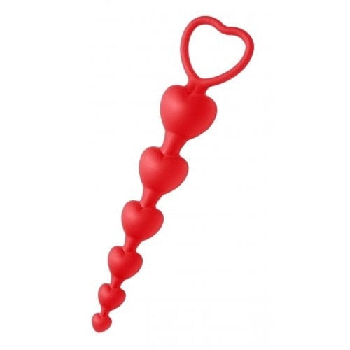 XR Brands® Sweet Hearts Heart Shaped Silicone Anal Beads - Rolik®