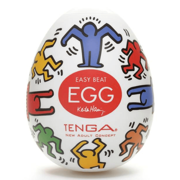 Tenga® Eggs Disposable Masturbator Keith Haring Edition - Rolik®