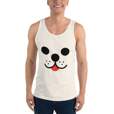 Pup Cream Unisex Tank Top by Cute Brute - Rolik