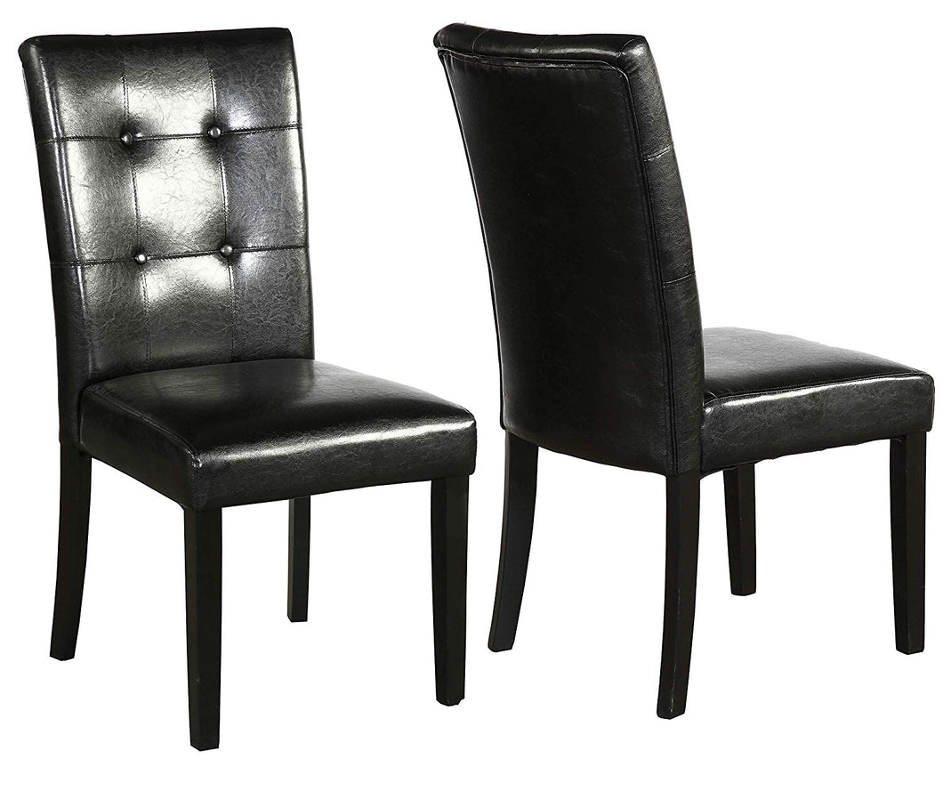 Tufted Parsons Upholstered Padded Dining Room Chairs Side ...