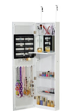 Jewelry Armoire Cosmetic Makeup Cabinet Organizer Over The Door Wallmount White