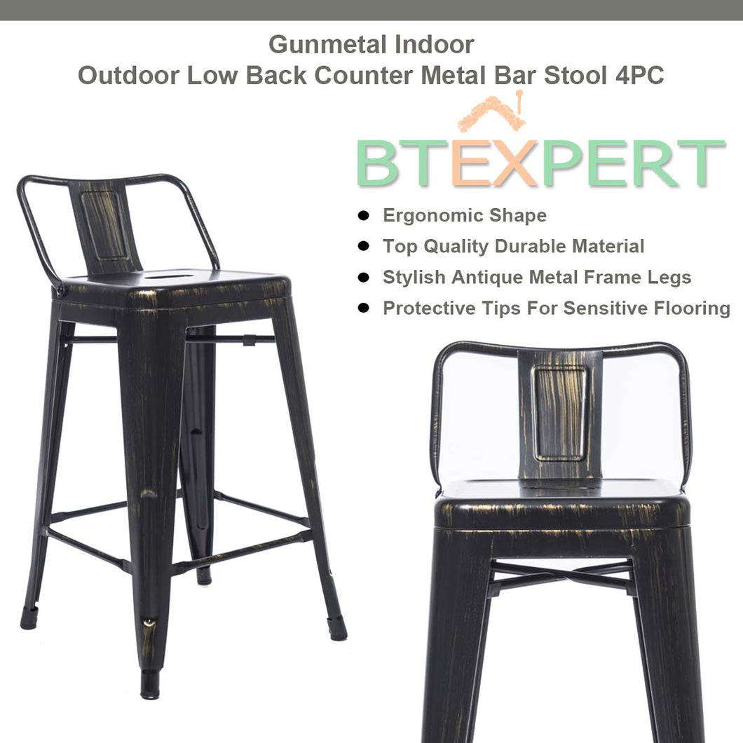 Fine Btexpert Industrial 24 Inch Golden Black Distressed Kitchen Lamtechconsult Wood Chair Design Ideas Lamtechconsultcom