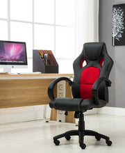 Gaming Tilt Swivel High back Leather Office Executive Chair - Red