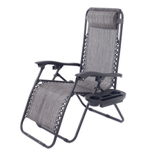 Zero Gravity Chair Case Lounge Outdoor Patio Beach Yard Garden With Utility Tray Cup Holder Gray