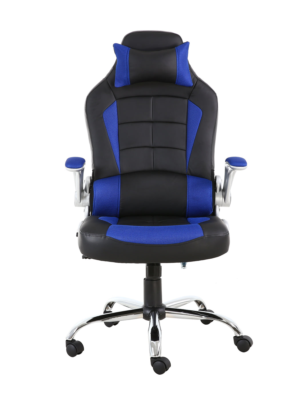 BTEXPERT Leather Office Gaming Chair Napping tilt Pillow Headrest Lumbar Support