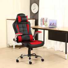 BTExpert High Back Reclining Leather Chair Executive Racing Office Gaming Chair red