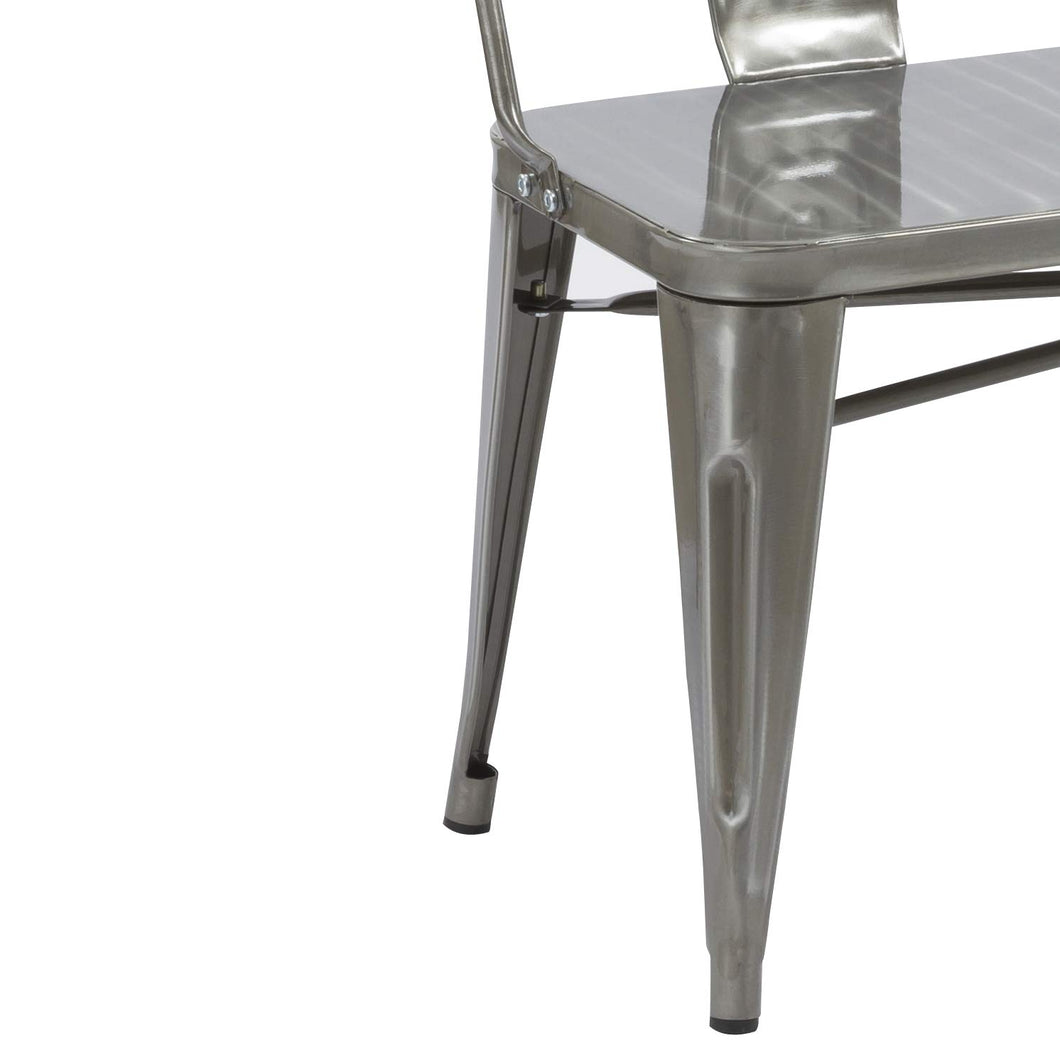 Sensational Btexpert Am5061Dm Industrial Dining Chair Bench Full Back Onthecornerstone Fun Painted Chair Ideas Images Onthecornerstoneorg
