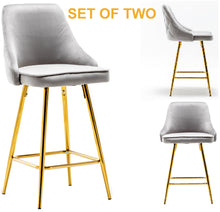 Shagufta Tufted Upholstered Modern Premium Stool Bar Chairs Set of 2