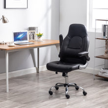 Office Desk Gaming Lumbar Support Computer Task Executive Adjustable Height/Arms Faux Leather Chair