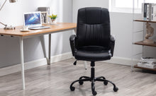 Office Desk Faux Leather Lumbar Support Conference Executive Chair
