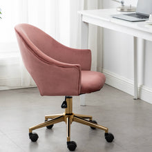 RoseGold Velvet Office Task Beauty Dresser Table Vanity Elegant Quality Chair Executive Fashionable Plush Golden Frame