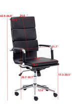Executive Computer Desk Chair PU Executive Faux Leather Rolling Swivel 360 Rotation Task Residential Commercial for Office, Home