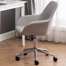 Padded Adjustable Rolling Home Office Mid-Back Upholstery Chair, Swivel