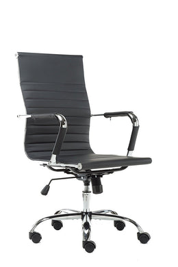 High Back Swivel Adjustable Office Executive Chair, Swivel, Black