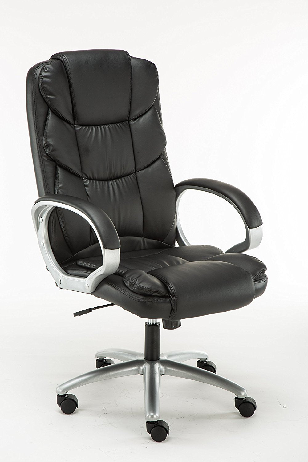 Adjustable Tilt High Back Swivel Leather Executive Chair, Black