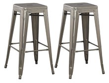 "30"" Solid Steel Industrial Bronze Distressed Metal Dining BarStool (Set of 4)"