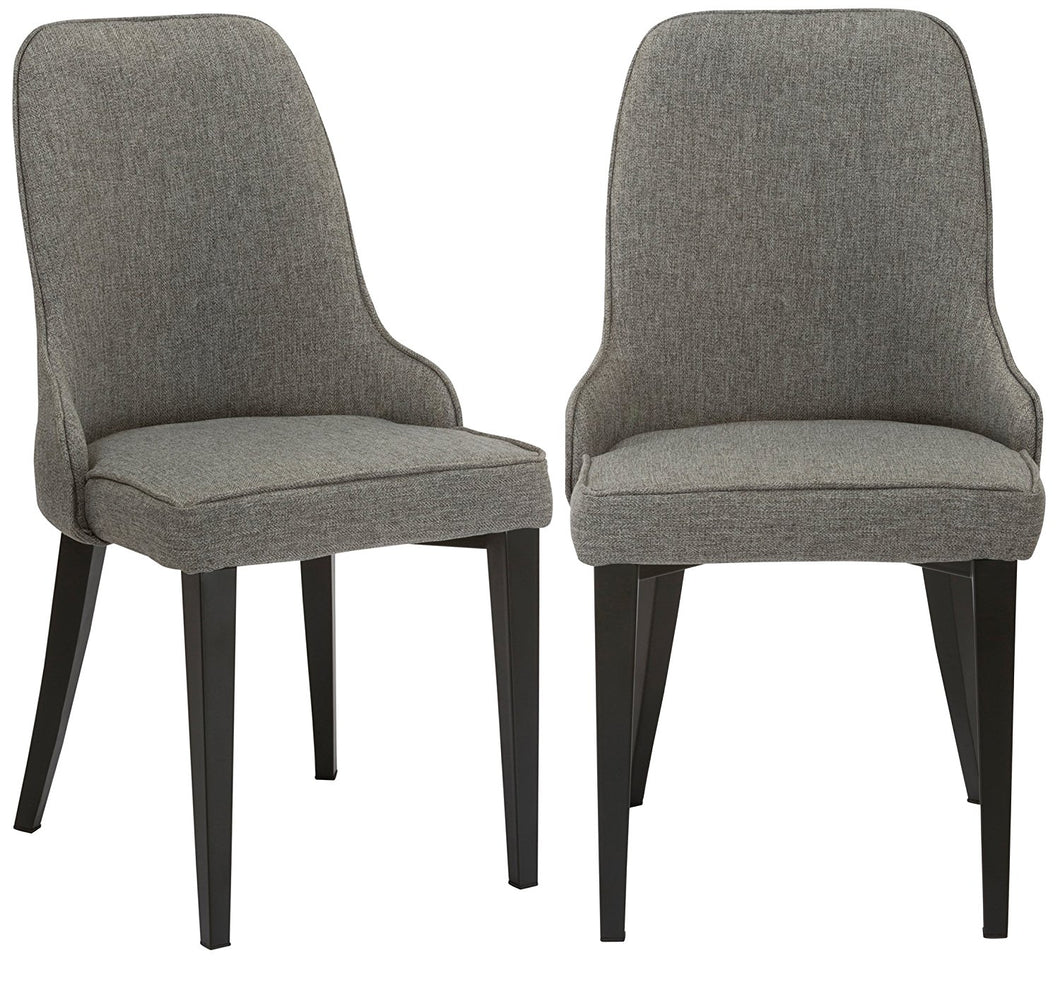Btexpert Upholstery Dining Chairs, Set of 2, Steel, Gray