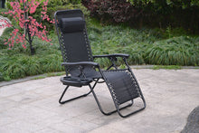 Improved Zero gravity Chair Outdoor lounge patio Cup tray Black 2 pack case set