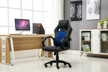 Ergonomic Gaming Tilt Swivel High Back Leather Office Executive Chair, Blue