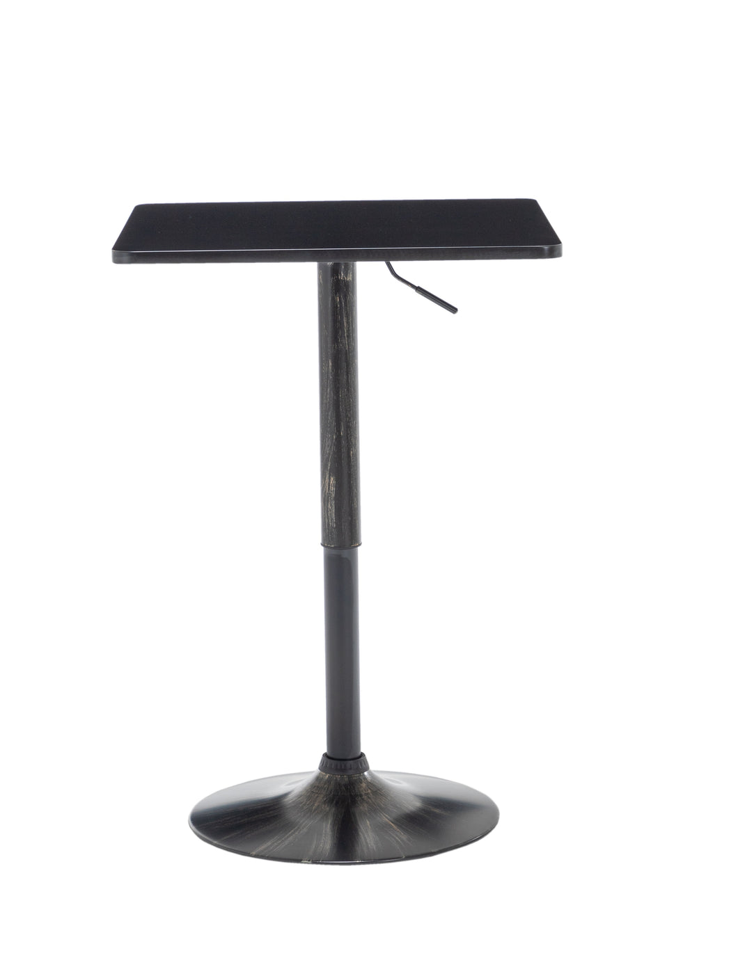 Golden Black Adjustable 27-36 Height Industrial Height Metal Bar Table Swivel Square Cocktail Wood Top Cocktail Pub Bistro