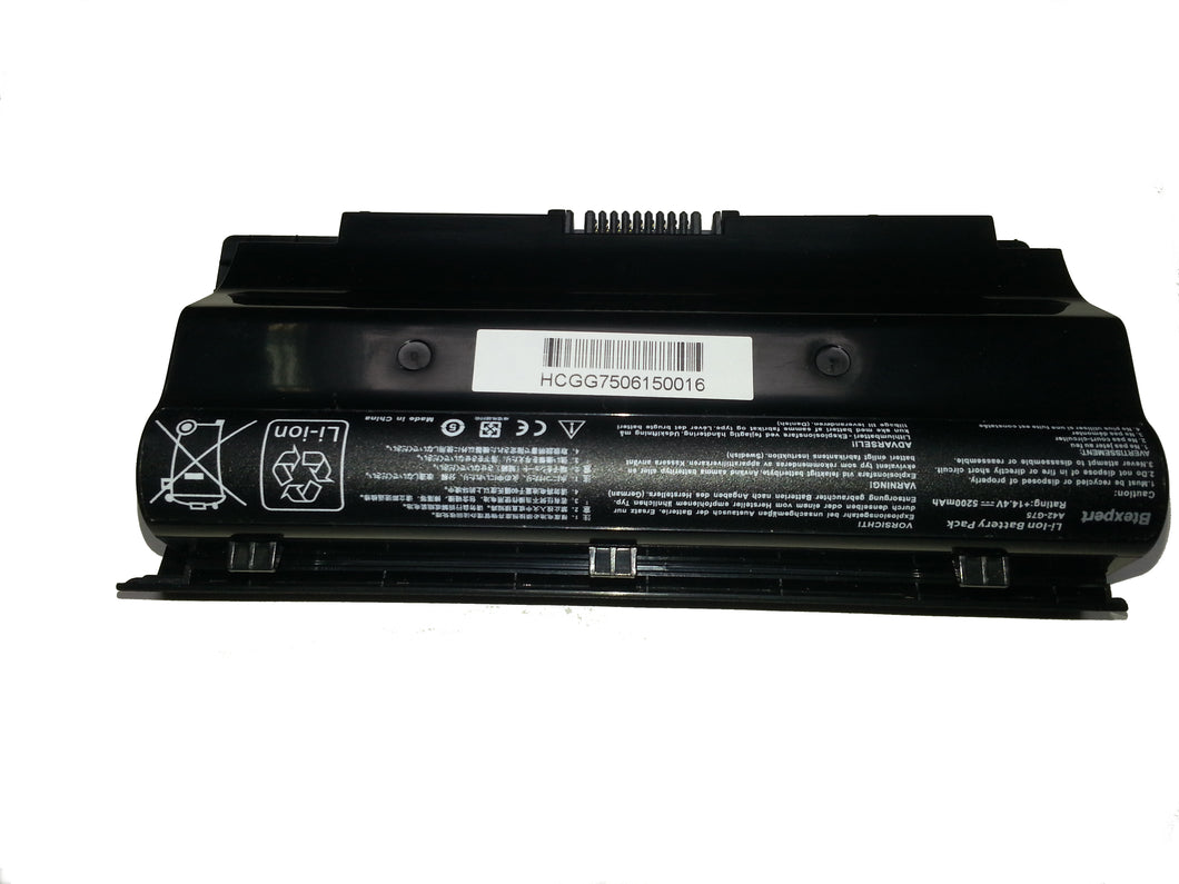 BTExpert® Laptop Battery for Asus 90-N2V1B1000Y A42-G75 G75 G75 3D G75V G75V 3D G75VM G75VM 3D G75VW G75VW 3D G75VW-BHI7N07 5200mah 8 cell