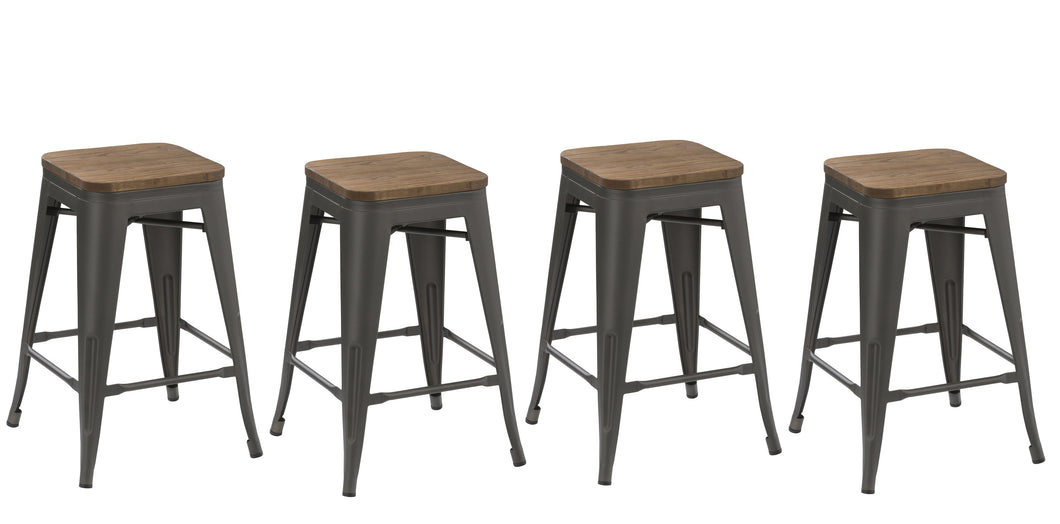 Stupendous 30 Metal Vintage Gunmetal Rustic Counter Bar Stool Modern Onthecornerstone Fun Painted Chair Ideas Images Onthecornerstoneorg