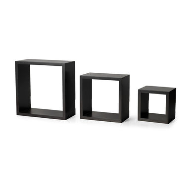 Brown Set of three Cube Wall Shelves BOOK Rack Storage Display Decoration Shelf