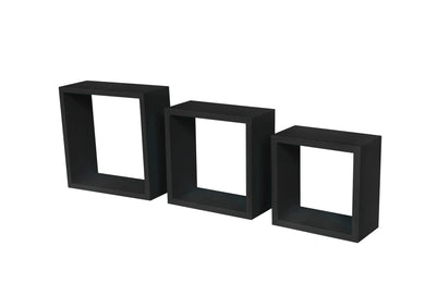 Black three Cube Wall Shelves BOOK Rack Storage Display Decoration Shelf