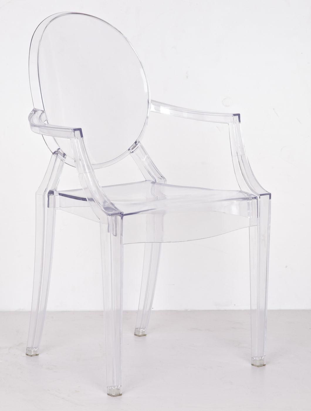 Transparent Crystal Accent Dining arms Chair Clear (set of two)
