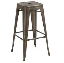"30"" inch Industrial Metal Antique Copper Distressed Counter Bar Stool -Two 2"