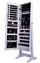 Premium White Cheval Mirror Jewelry Cabinet Armoire Box Stand Organizer Case